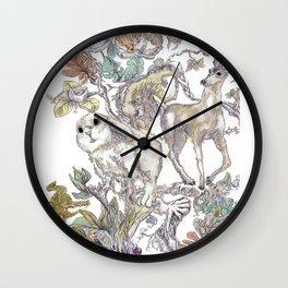 Fauna Inlay Pattern #1 Wall Clock