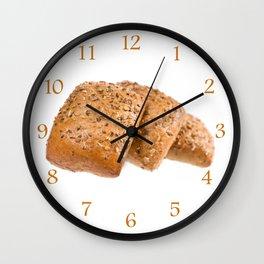 baked graham bread rolls Wall Clock