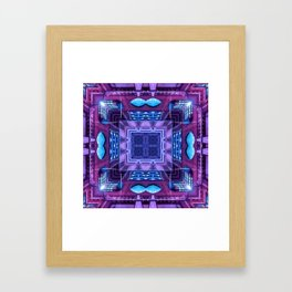 Purple Neon Framed Art Print