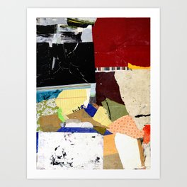 Hold Fast Abstract Mixed Media Collage Art Art Print