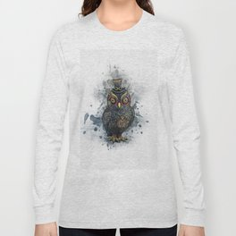 Steampunk Owl Long Sleeve T-shirt