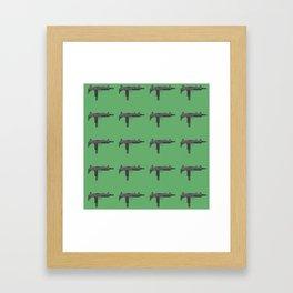 Uzi submachine gun Framed Art Print