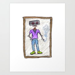 Smoking Isn't Bad For You (If You Are A Robot) Art Print