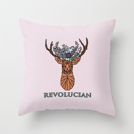 Revolucian - Lucy Cavendish College Throw Pillow