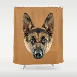 German Shepherd // Natural  Shower Curtain