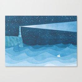 Lighthouse illustration Canvas Print