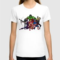super heroes T-shirts featuring Heroes by Callie Clara