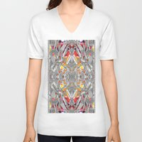 blueprint V-neck T-shirts featuring Blueprint - multi by Etch by Design