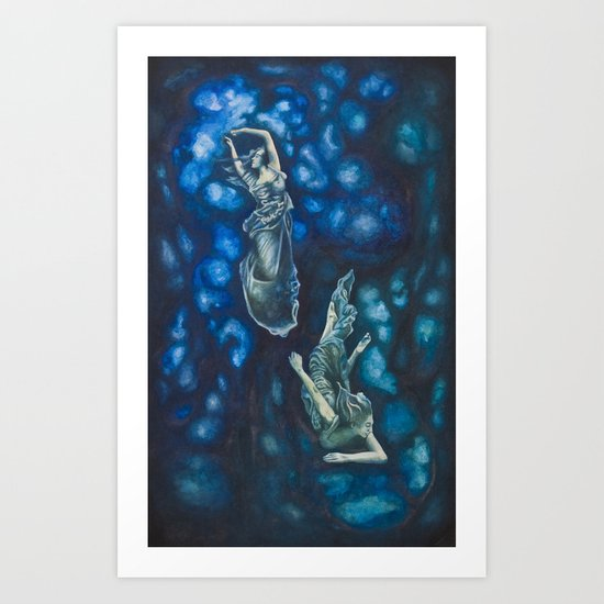 Composition in Blue Art Print