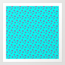 Doing Math Again #pattern #math Art Print