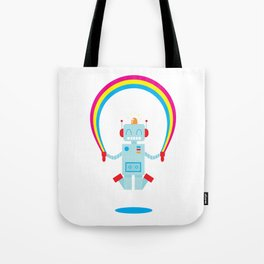 Skipping a Rainbow Tote Bag