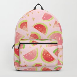 Watermelon Slices & Gold Hearts Backpack
