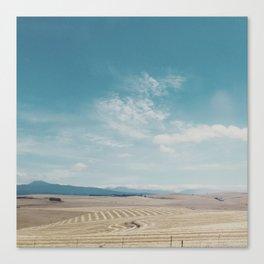 Overberg farmlands, South Africa Canvas Print