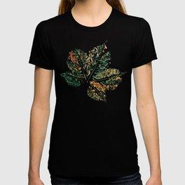 Skeleton Watercolor Leaf T-shirt
