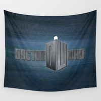 doctor who Wall Tapestries featuring Doctor Who by Janismarika
