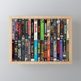 VHS Collection Framed Mini Art Print