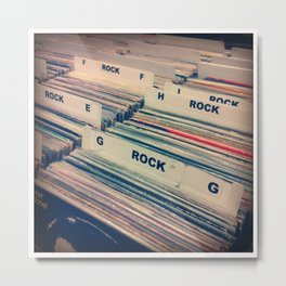 Vinyl Shopping Metal Print