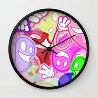 donnie darko Wall Clocks featuring DONNIE by Moodi Studios