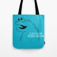sesame street Tote Bags featuring Studio Sesame by le.duc