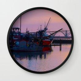 Pink Harbor Wall Clock