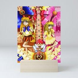 Sailor Mew Guitar #27 - Sailor Venus & Mew Berry Mini Art Print