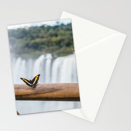 Butterfly over Iguazu Falls, Argentina Stationery Cards