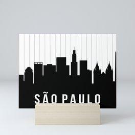São Paulo Skyline Mini Art Print