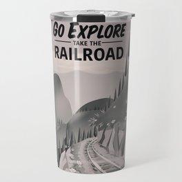 Take the Railroad ( black and white ) Travel Mug
