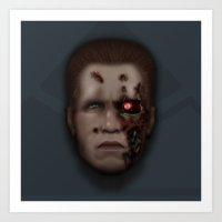 Icon Series 4: (Cyborgs 2/3) Model 101 Series 800 Terminator Art Print