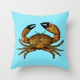 Stone Rock'd Stone Crab By Sharon Cummings Throw Pillow