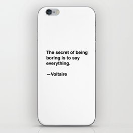 Voltaire on Conversation iPhone Skin