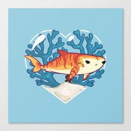 CHOMP the Tiger Shark Canvas Print