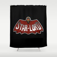 star lord Shower Curtains featuring Star Lord logo by Buby87