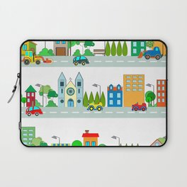 Cars in the town Laptop Sleeve
