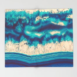 Blue Agate Water Element Throw Blanket