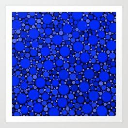 Vibrant Cobalt Blue Polka Dots Art Print