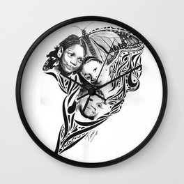 BOUQUET  OF BUTTERFLIES (As inspired by the photography of Courtney Douglas) Wall Clock