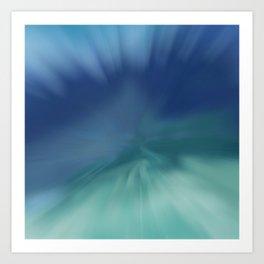 Blue meets Green Abstract Art Print