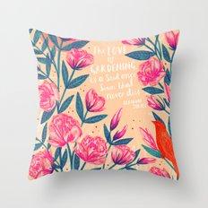 A Love of Gardening Throw Pillow