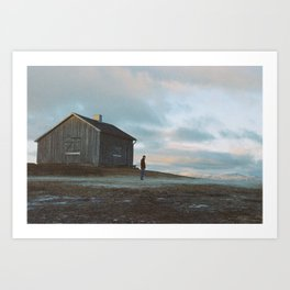 Abandoned cottage Art Print