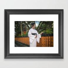 Saya in Kimono Framed Art Print