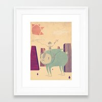 cowboy Framed Art Prints featuring Cowboy by Liam Smith
