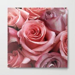 Pastel Red Roses, Elegant and Chic Metal Print