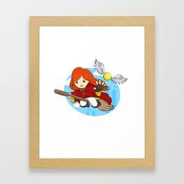 HP - Snitch Catcher - Ginger girl Framed Art Print