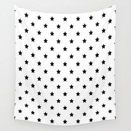 Black stars pattern Wall Tapestry