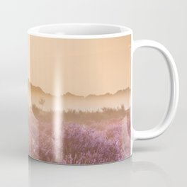 I - Fog over blooming heather near Hilversum, The Netherlands at sunrise Coffee Mug