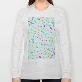 Music Colorful Notes Long Sleeve T-shirt