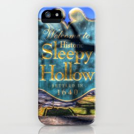 Sleepy Hollow Village Sign iPhone Case