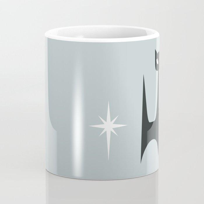 Mid Century Atomic Blue Cats Coffee Mug