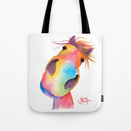 Happy Horse ' GoRGEOUS GWiNNY ' By Shirley MacArthur Tote Bag
